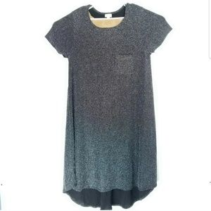 Lularoe Womens 2XL Dress Sparkly Crewneck HiLow